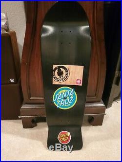 Rob Roskopp Signed Reissue Skateboard Deck Santa Cruz Vintage