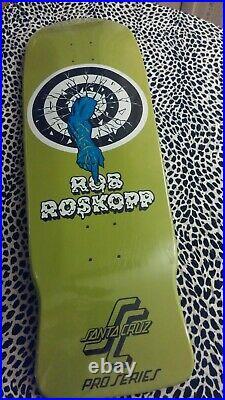 Rob Roskopp Skateboard Deck Santa Cruz Target 1 Rare Sold Out Sealed New Nos