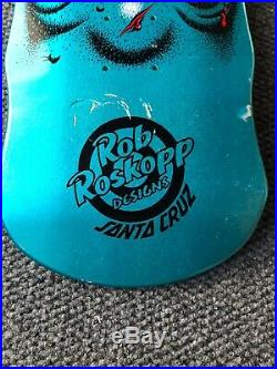 Rob Roskopp Skateboard Deck Santa Cruz metallic blue