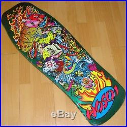 SANTA CRUZ Christian Hosoi Collage Skateboard Deck Candy Metallic Mint