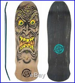 SANTA CRUZ Face Rob Roskopp Skateboard Deck 9.5 Old Skool BROWN Reissue 1980s