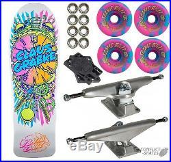 SANTA CRUZ Grabke Exploding Clock Skateboard 10 Complete WHITE SLIMEBALLS 80s