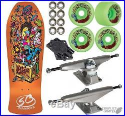 SANTA CRUZ Grosso Toybox Complete Skateboard 10 SLIMEBALLS 1980s Old Skool