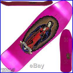 SANTA CRUZ Jason Jessee Guadalupe Skateboard Deck Metallic Pink Old Skool 9.9