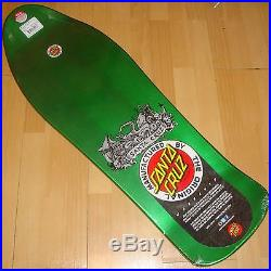 SANTA CRUZ Jason Jessee Neptune II Metallic Green Skateboard Deck 10.2