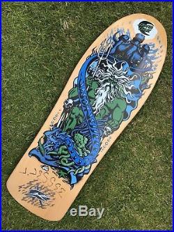 SANTA CRUZ Jason Jessee Signed Skateboard Deck Neptune Re Issue