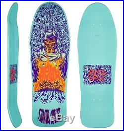 SANTA CRUZ Knox Firepit Skateboard deck 10 PASTEL TEAL Old Skool Tom 1980s