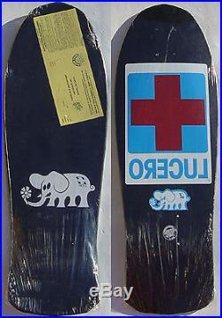 SANTA CRUZ / LUCERO Red Cross Skateboard Deck Old School NOS 1988