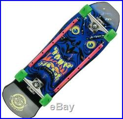 SANTA CRUZ Roskopp Face Cruzer Skateboard Complete 9.5 BLACK Old Skool KRUX