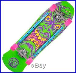 SANTA CRUZ Roskopp Face Cruzer Skateboard Complete 9.5 NEON GREEN Old Skool
