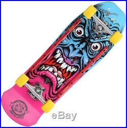 SANTA CRUZ Roskopp Face Cruzer Skateboard Complete 9.5 PINK/BLUE Old Skool