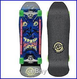 SANTA CRUZ Roskopp Face Cruzer Skateboard Complete 9.5 x 31 BLACK Old Skool