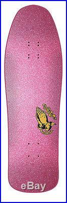 SANTA CRUZ SKATEBOARD DECK -9.9 x 31.8 JASON JESSEE GUADALUPE METALLIC PINK