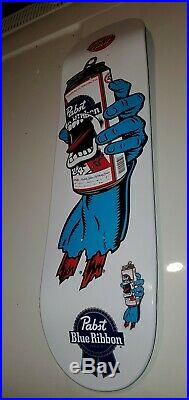 SANTA CRUZ SKATEBOARD DECK RARE DECOR COLLECTIBLE PABST BLUE RIBBON brand new