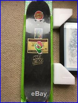 SANTA CRUZ SKATEBOARDS MARS aTTACKS 1/1 ART DECK