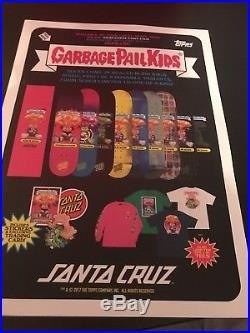 SANTA CRUZ SKATEBOARDS gold GARBAGE PAIL kid-Filthy Rich Foil! Extra RARE