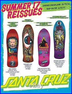SANTA CRUZ /SMA Skateboard deck Natas Kitten Metallic Candy Pink 9.89