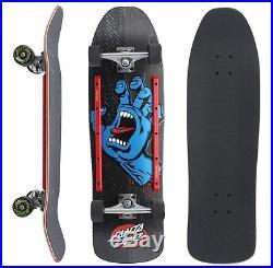 SANTA CRUZ Screaming Hand Cruzer Skateboard Complete 9.35 BLACK Old Skool