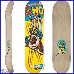 SANTA CRUZ x MARVEL COMICS Wolverine Hand Skateboard Deck Ltd Ed Screaming