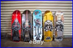 SDCC Comic Con 2016 Star Wars Skateboard Decks Set of 5 Santa Cruz