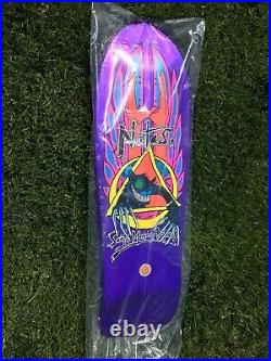 SIGNED Natas Kaupas Skateboard Deck Evil Cat Santa Cruz Santa Monica Airlines