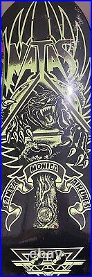 SMA Natas Kaupas Panther Glow Skateboard Deck Santa Monica Airlines Cruz 101