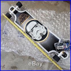 STAR WARS Santa Cruz Stormtrooper Cruzer Skateboard Long Board RARE Brand New