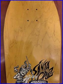 Salba Tiger Santa Cruz Skateboard Deck Yellow Reissue Steve Alba Jim Phillips