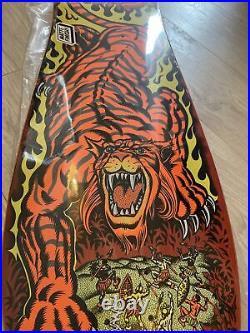 Santa Cruz 10.3 X 31.1 Salba Tiger Reissue Skateboard Deck Brand New in Shrink