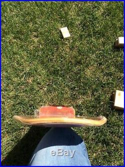 Santa Cruz 1990 NOS Tramp-Oops IV Vintage Skateboard Deck in Red Stain
