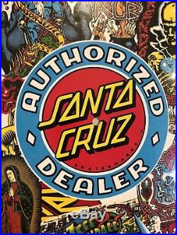 Santa Cruz 30 Year Authorized Dealer NOS Skate Deck Powell Peralta Vision