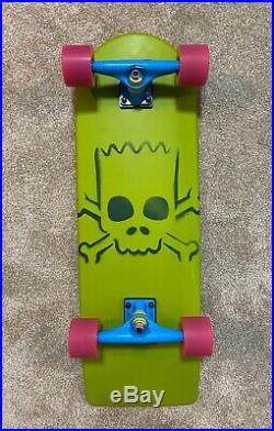 Santa Cruz- Bart Simpson Limited Edition Cruiser- Skateboard- RARE Skate Board
