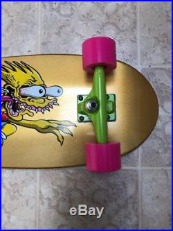 Santa Cruz Bart Simpson Slasher Limited Exclusive Gold Skateboard Rare