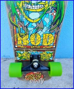 Santa Cruz Bod Boyle Stained Glass Skateboard Complete 10x31
