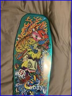 Santa Cruz Christian Hosoi Collage Candy Mint Skateboard Deck Reissue