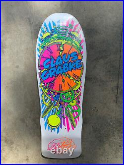 Santa Cruz Claus Grabke Exploding Clock Reissue Skateboard Deck Old School Shape