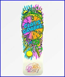 Santa Cruz Claus Grabke Neon White Exploding Clock Skateboard Deck