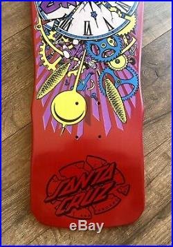 Santa Cruz Claus Grabke Skateboard OG Exploding Clocks SC Deck