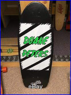 Santa Cruz Duane Peters 2 SkateBoard Deck1984 VIntage Dogtown Powell Peralta NOS