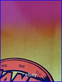 Santa Cruz Eric Dressen PUP Fade Gold Purple Reissue Skateboard Deck 2018 Scuff