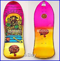 Santa Cruz Eric Dressen Pup Gold and Purple Fade Reissue Skateboard Deck NOS