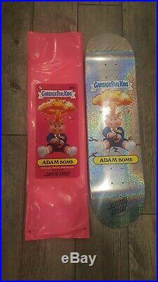 Santa Cruz Garbage Pail Kids Adam Bomb Prismatic Puke Skateboard Deck Rare