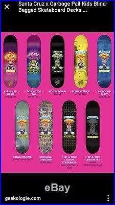 Santa Cruz Garbage Pail Kids Skate Board Deck Rare Adam Bomb Nostalgia Overload