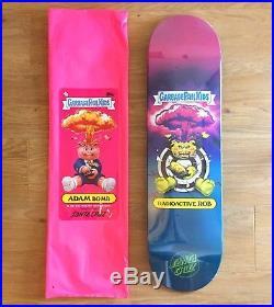 Santa Cruz Garbage Pail Kids Skateboard Rare Radioactive Rob Adam Bomb