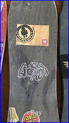 Santa Cruz Hosoi Picasso Reissue Deck 9.8 Black Old School RARE