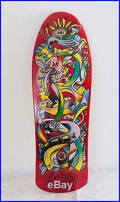 Santa Cruz Hosoi Picasso Reissue Deck 9.8 Red Old School RARE