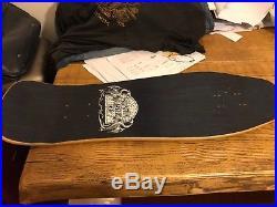 Santa Cruz Hugh Bod Boyle Stained Glass Nos Skateboard deck Vintage