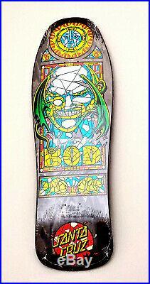 Santa Cruz Hugh Bod Boyle Stained Glass Reissue Skateboard Deck 31 x 10 Rare