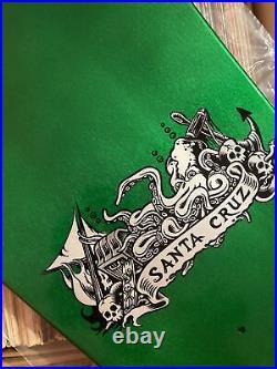 Santa Cruz Jason Jesse Skateboard Deck Neptune Green Stain Reissue