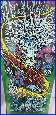 Santa Cruz Jason Jessee Metallic Green Neptune Reissue Skateboard Deck 10x31